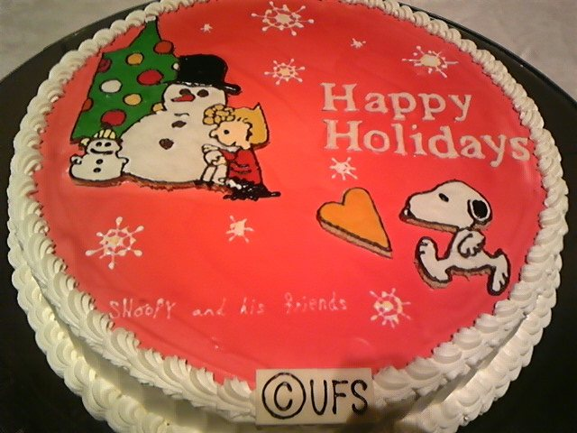 スヌーピーのケーキ!