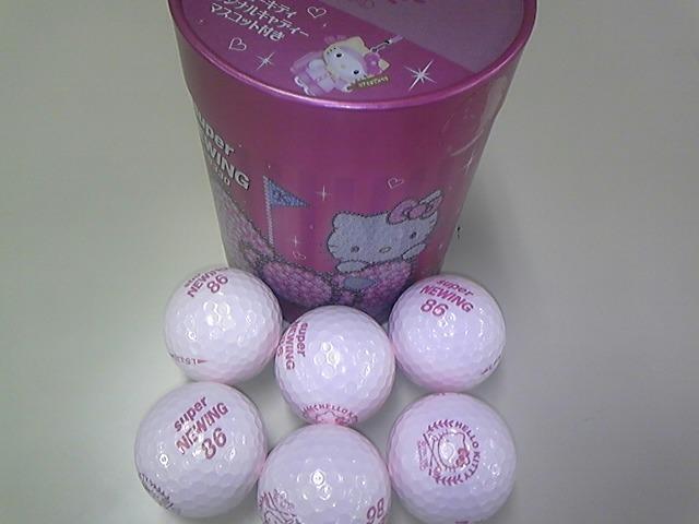 ピンクのゴルフポール!