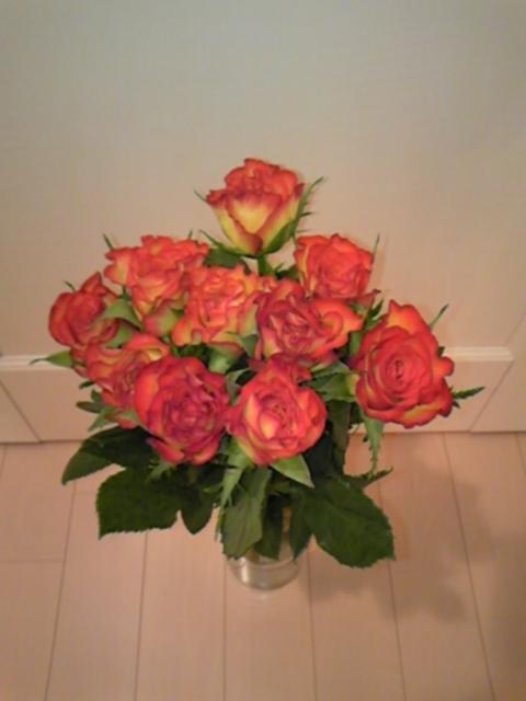 薔薇のある部屋