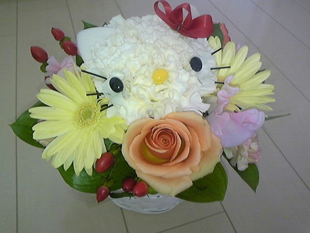 ホワイトデーにキティのお花!
