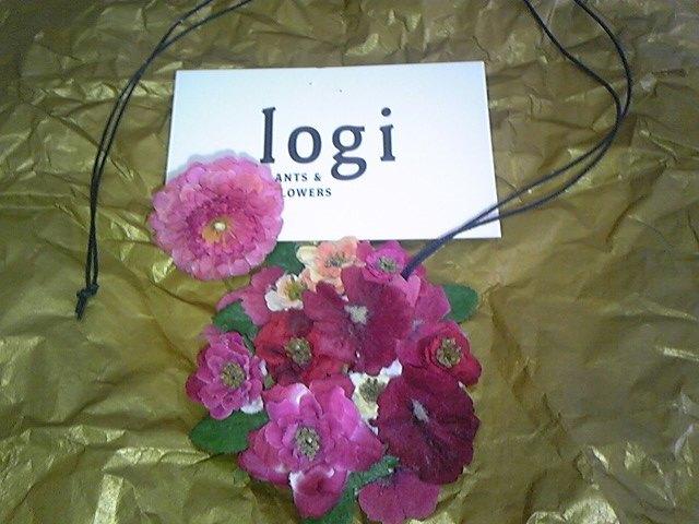 お花のネックレス!