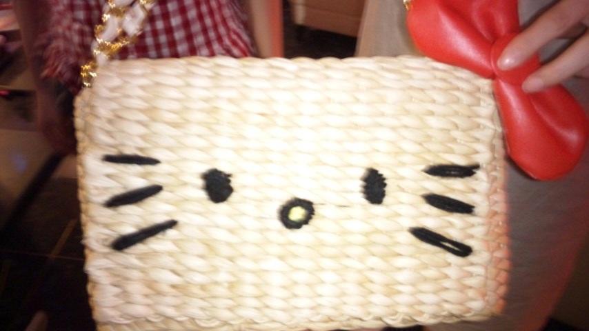 キティの籠バッグ!