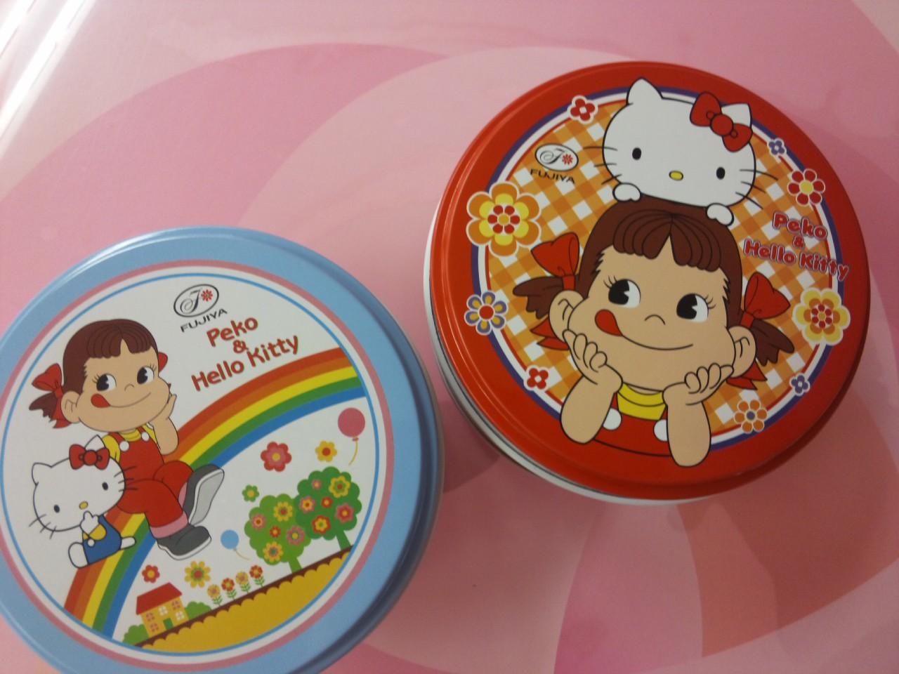 ペコ&ハローキティキャンディ缶!