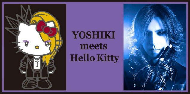 YOSHIKI meets HelloKitty!